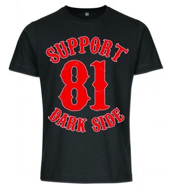 Schwarzes T-Shirt mit 2...