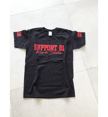 Schwarzes T-Shirt mit rotem...