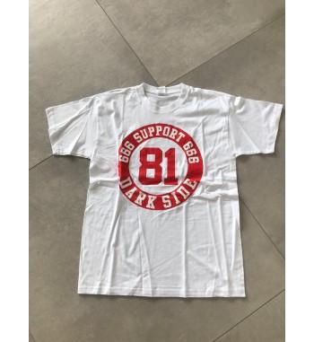 Weißes Shirt mit rundem...